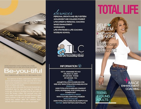 Jada Collins Image Enhancement, Modeling Show, & Seminars Brochure