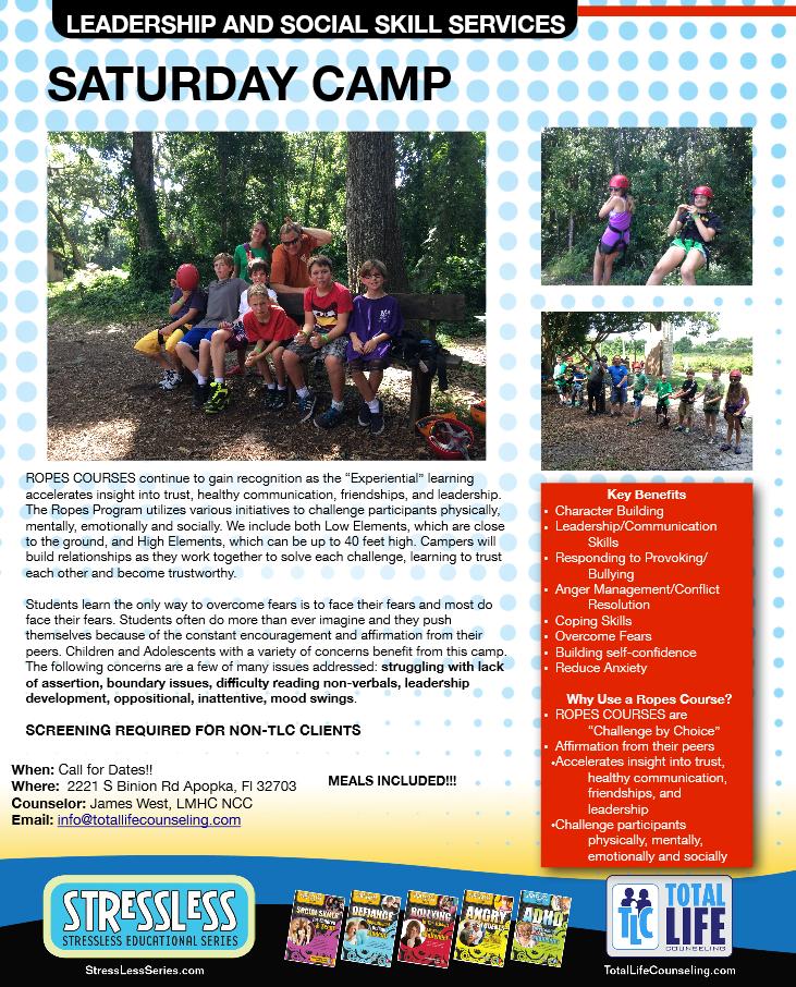 Saturday Leadership Camp Flyer & Information