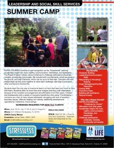 Summer Social Skills Overnight Camp ASD ADHD Flyer