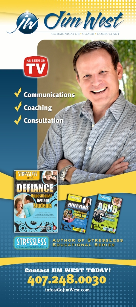 Jim West As Seen on TV StressLess Series Author International Family Adolescent Expert Defiance ADHD Bullying