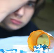 teen with prescription pills