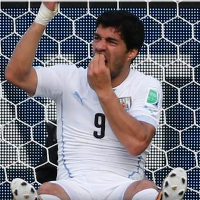 Suarez Bites Italian World Cup 2014 Anger Tips in Competition Orlando Counselor