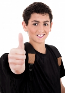Lake Mary Child Counseling Therapy Services Teenager Shows Thumbs Up by photostock