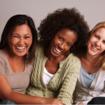 Smiling group of women